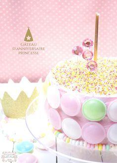   Gâteau d'anniversaire de princesse   Layer cake chocolat mascarpone fraises © Les Gourmands {disent} d'Armelle