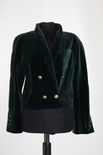 Jacheta din catifea verde inchis anii '80 #vintage #vintagewardrobe #vintageautentic #vintagejackets #1980s #vintageclothing