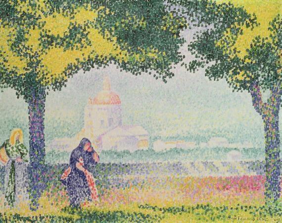 View of the Church of Santa Maria degli Angeli, near Assisi, by Henri-Edmond Cross