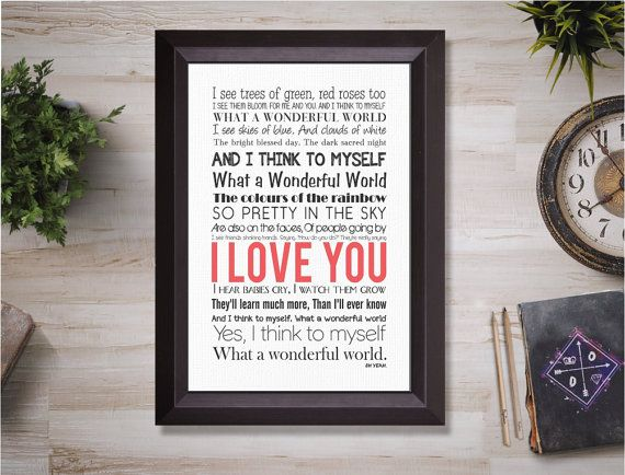 What a wonderful world  Ready for instant download to print today. No waiting and no shipping costs!  ••• WHAT'S INCLUDED •••  •  1 JPEG file in an 8 x 10 size but can be r... #etsy