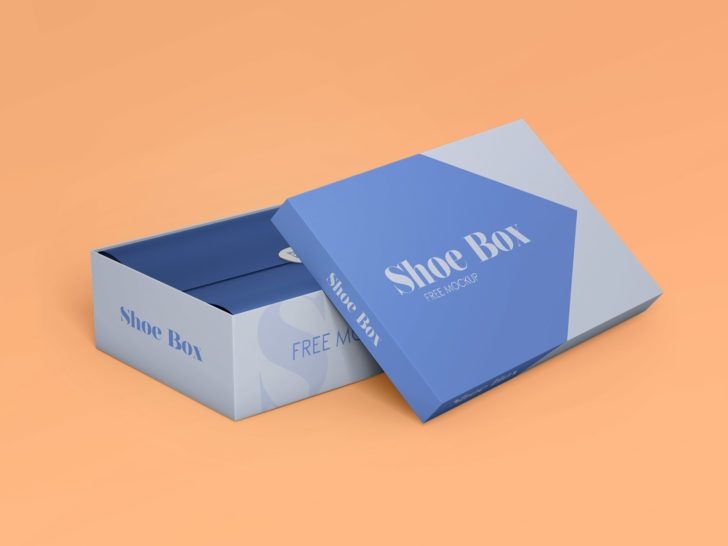 Download 2 Shoe Rectangle Box Mockups Set Free Package Mockups Box Mockup Free Packaging Mockup Packaging Design Inspiration