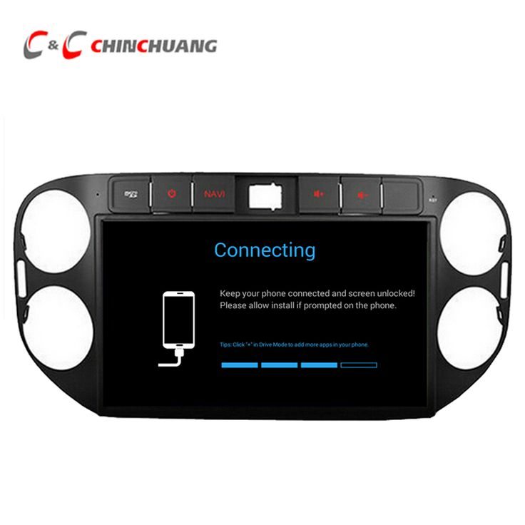 HD 1024*600 Quad Core Android 5.1.1 Car Radio GPS for Volkswagen VW TIGUAN 2013-2014 with Wifi DVR SWC Mirror link+Free 8G Card