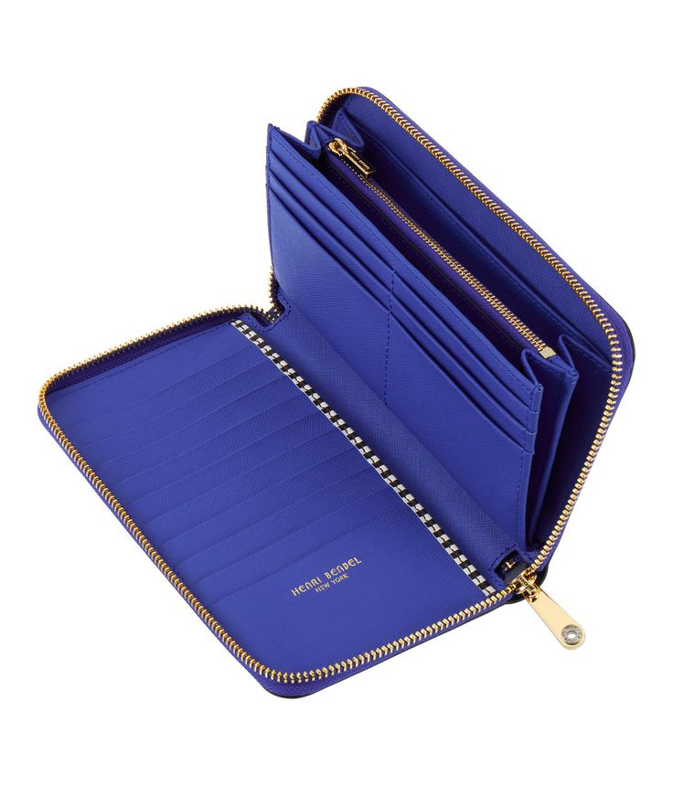<p>The West 57th Zip Around Continental Wallet belongs in every Bendel Girl's designer handbag. Crafted with chic Saffiano leather, this must-have luxury handbag accessory provides plenty of convenient storage and sophisticated style.</p>