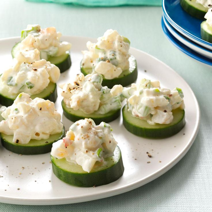 Shrimp & Cucumber Rounds Recipe -I always make these appetizers for our get-togethers. They're easy to prepare and a snappy addition to any party. —Kelly Alaniz, Eureka, California