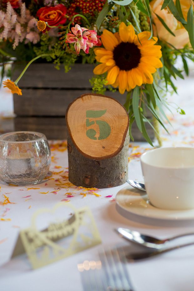 Pretty colourful floral wedding at Clock Barn by Mia Photography // www.onefabday.com