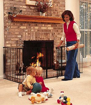 Wood stove child safety screen protect children and pets from a hot wood burning stove