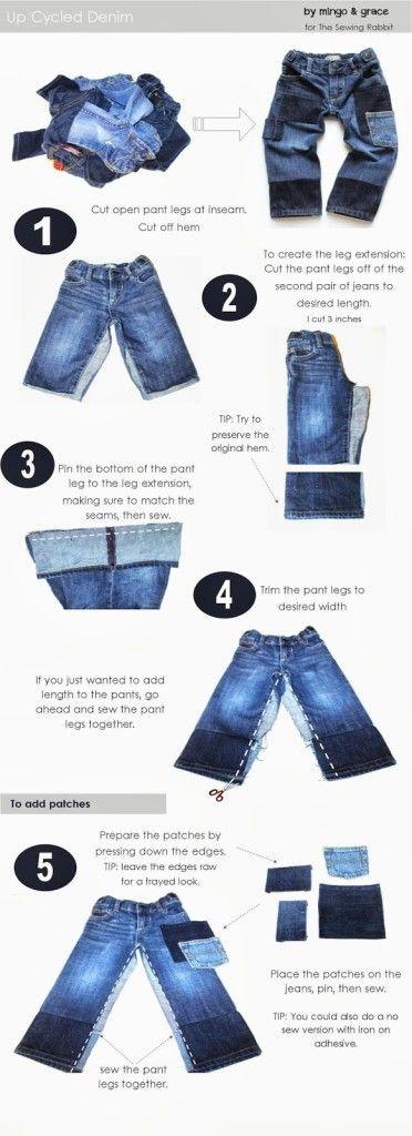 Hacer los pantalones ya!  Muchos de los grandes consejos para que los niños la ropa dure más tiempo!
