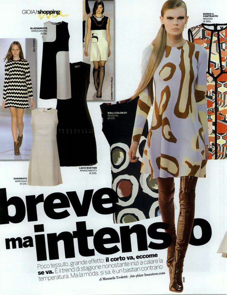 """""Breve ma Intenso"" abito Optical Sinequanone #robe #blanchenoire #mydress #optical #backto60s"