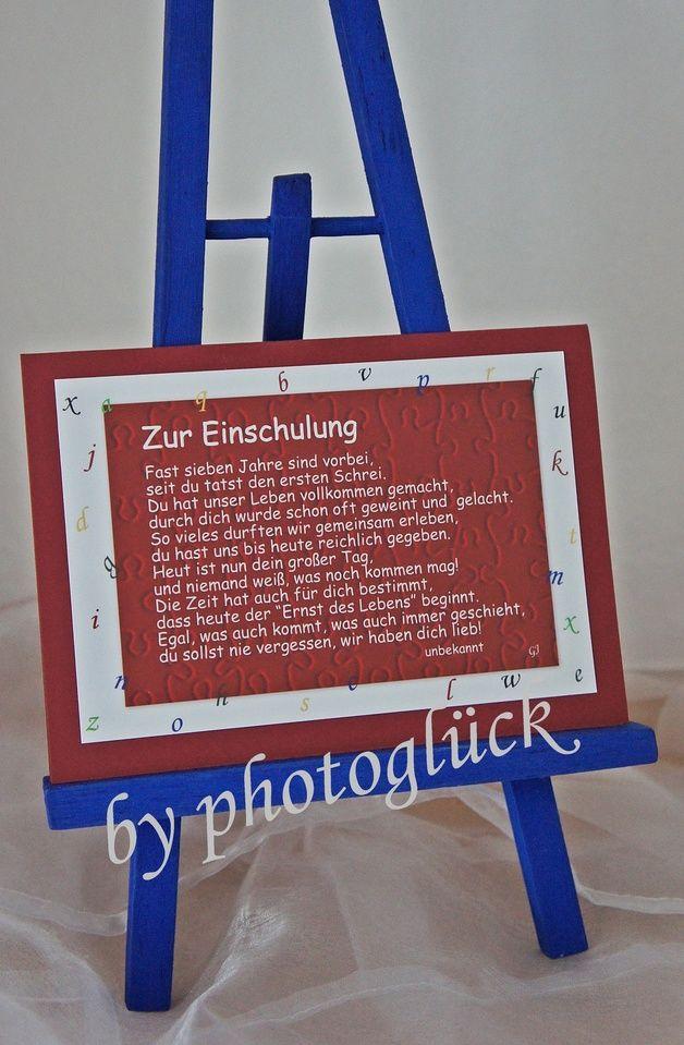 +Zur Einschulung+  Eine individuelle Karte zur Einschulung für das zukünftige Schulkind - ein schöner und besonderer Tag.   Alle Motive der Karte für die Einschulung wurden von mir fotografiert.