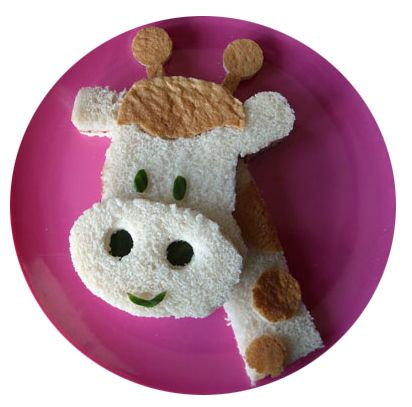 Giraffe Sandwich, Giraffe, kids food, sandwich, kids, kiddo