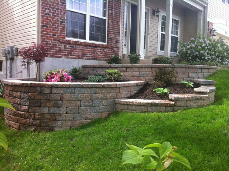 Multi-Tiered Retaining Wall - This unique retaining wall ...