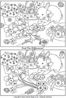 Practice there is / are, there isn't / aren't with this Easter themed find the differences puzzle. ESL / EFL.
