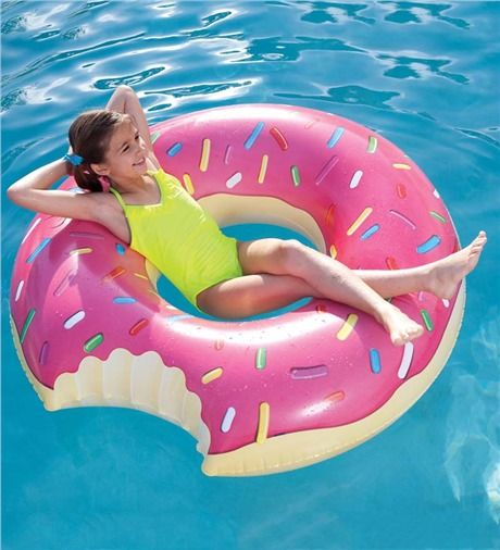 Inflatable donut swimming pool for children