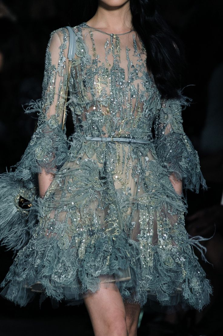 Detail at Elie Saab Couture Spring Summer 2015 | PFW