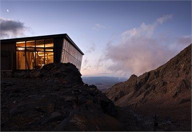 Knoll Ridge Cafe by Harris Butt Architecture, Whakapapa Ski Field, New Zealand.