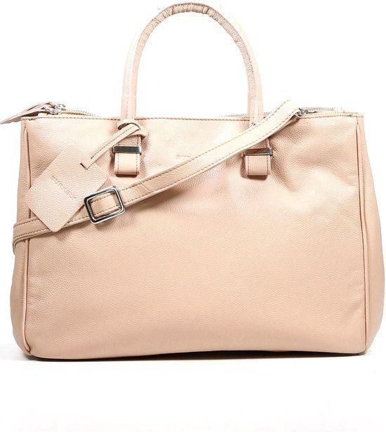 Burkely - 3 vakken - Lederen tas - Afneembare riem  - Handtas - Roze