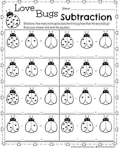 kindergarten math and literacy worksheets for february learning pages literacy worksheets. Black Bedroom Furniture Sets. Home Design Ideas