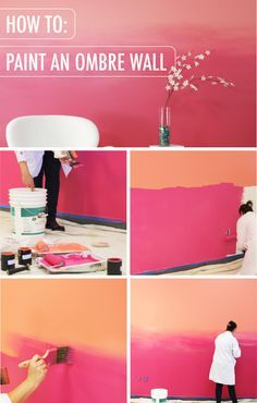 Do You Feel Inspired By Warm Tones And Calming Sunsets? Youu0027re In Luck!  This Helpful Tutorial For How To Create An Ombre Wall, Featuring BEHR Paint  In ...