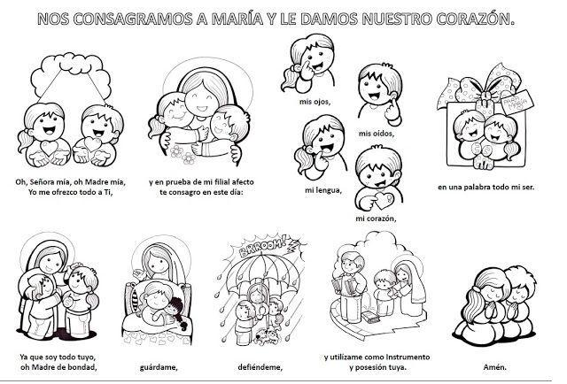 mandamientos de la iglesia catolica para niños con dibujos - Buscar con Google