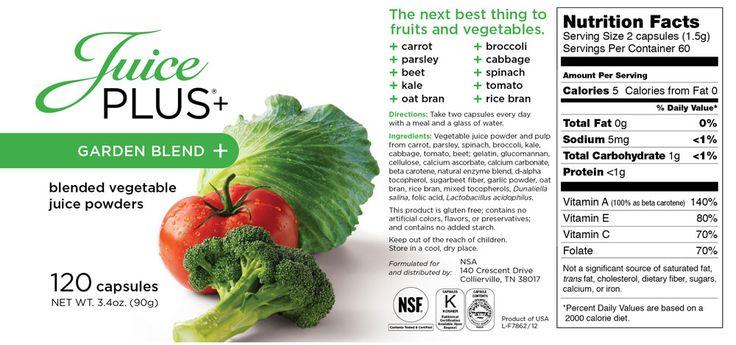65 best Juice Plus images on Pinterest | Healthy living ...