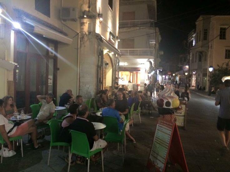 Rethymnon Crete Greece Friday Night 11th September 2015