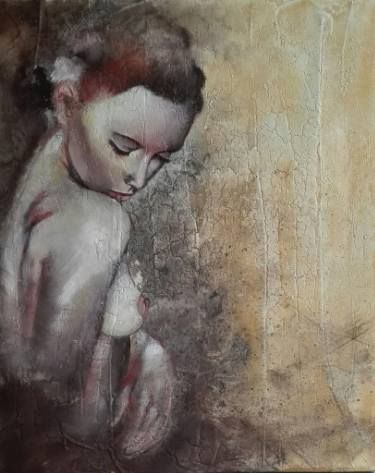 "Saatchi Art Artist Donatella Marraoni; Painting, ""Shy"" #art"