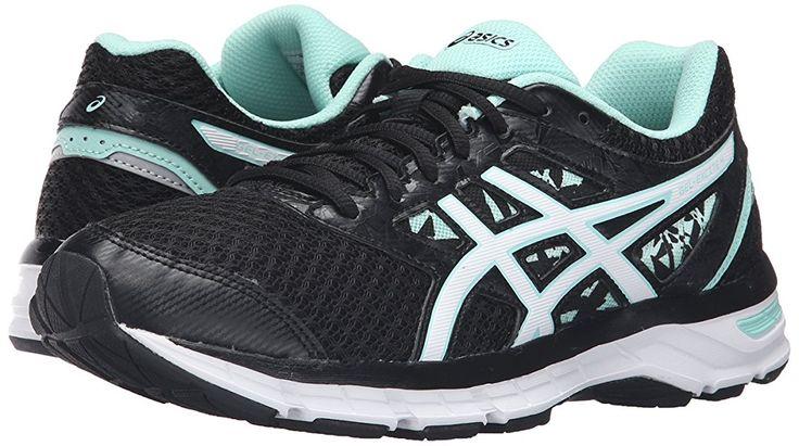 ASICS Women's Gel-Excite 4 Running Shoe, Shark/Flash Coral/Parachute Purple, 5 M US