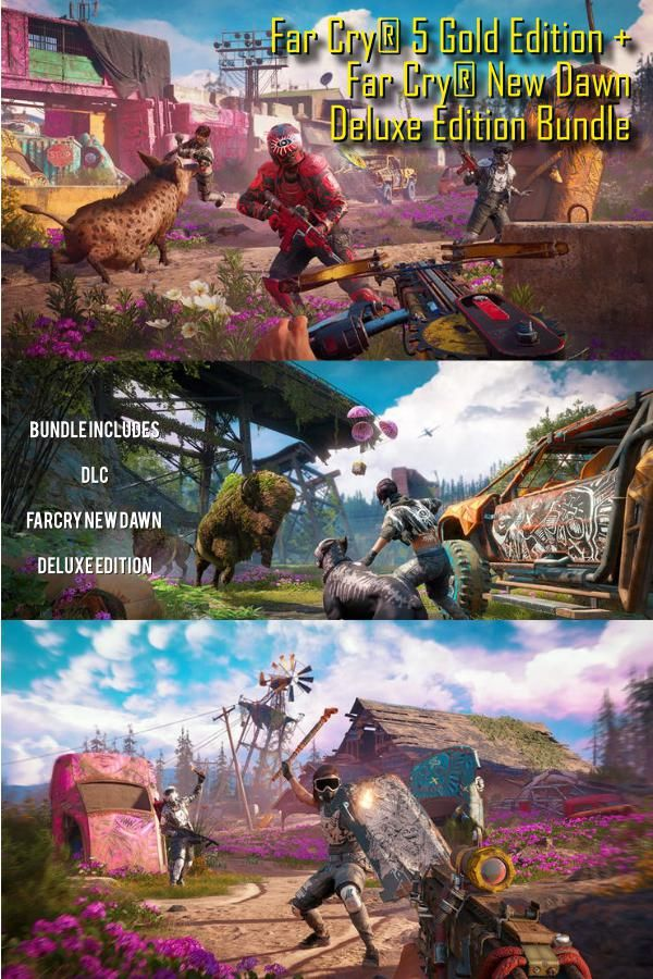 Far Cry 5 Gold Edition And Far Cry New Dawn Deluxe For Pc Which Includes Tons Of Far Cry 5 Dlc Fanatical Has A Limited Time Offer T Crying Far Cry 5 Edition