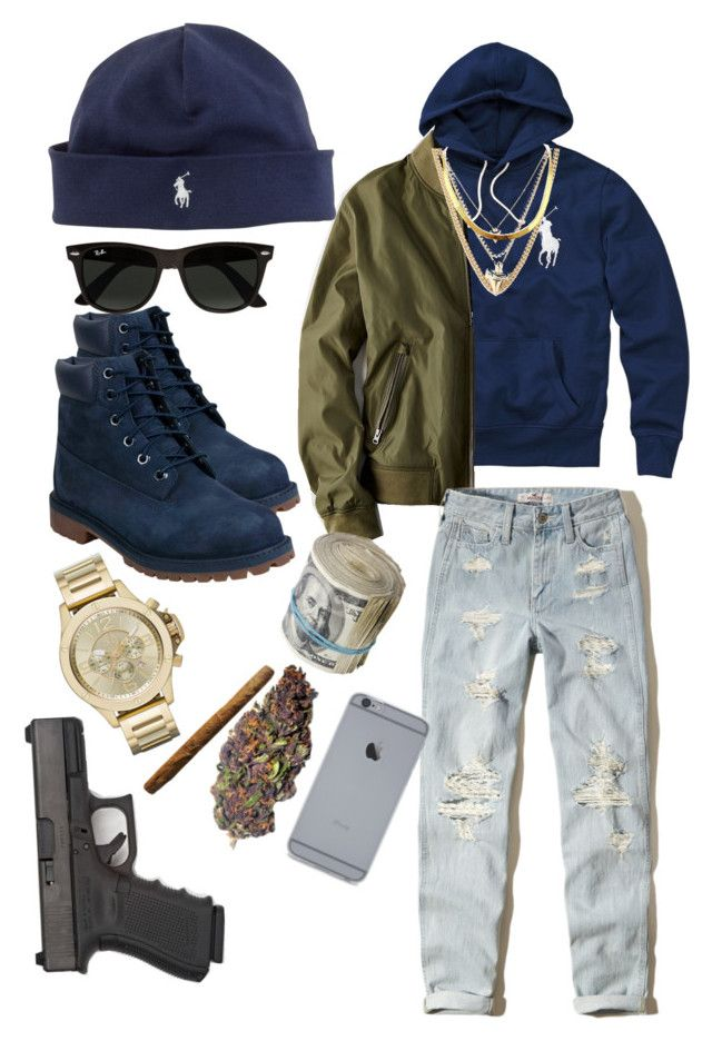 """""""Uptown D Boy"""" by hurricane-mills ❤ liked on Polyvore featuring Polo Ralph Lauren, American Eagle Outfitters, Ralph Lauren, Ettika, Hollister Co., Timberland, Armani Exchange, Ray-Ban, men's fashion and menswear"""