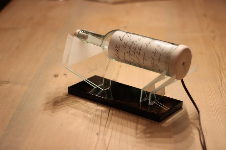 Bottle lamp - glass, unlit
