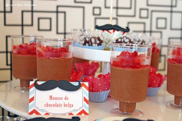 dessert for this moustache/man themed party