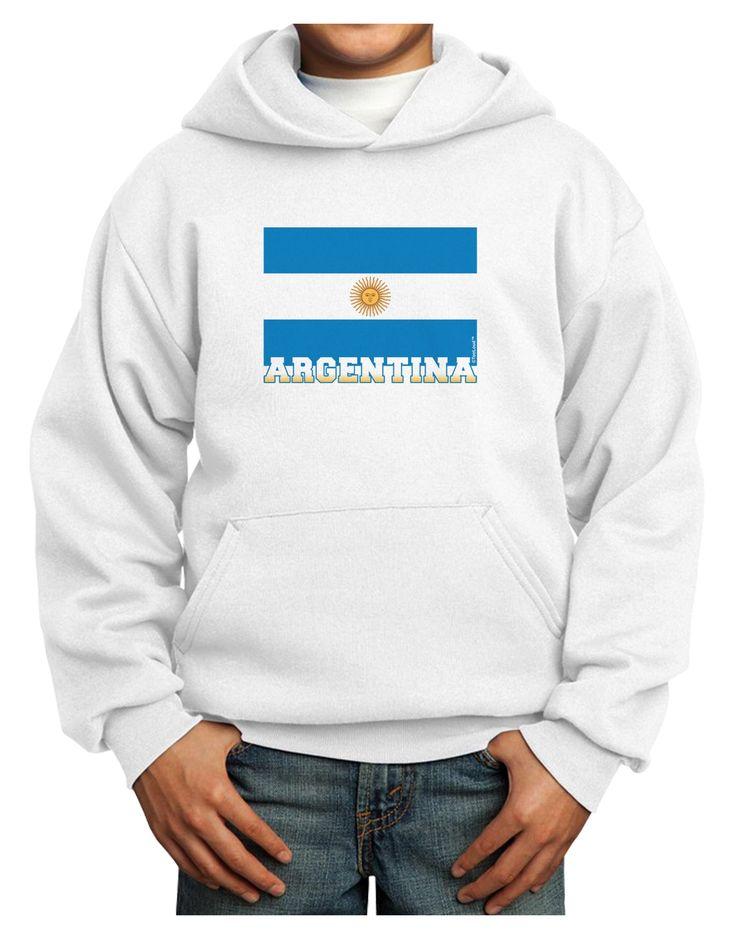 Argentina Flag Youth Hoodie Pullover Sweatshirt