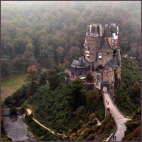 Burg Eltz - a medieval castle nestled in the hills above the Moselle River between Koblenz and Trier, Germany. Just beautiful!!