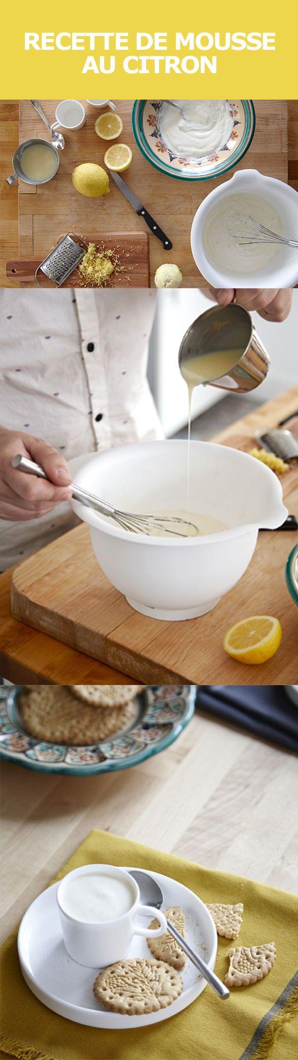 Légère, fruitée et facile à préparer en un rien de temps, cette délicieuse mousse au citron est le dessert idéal des tables ensoleillées. Quelques ingrédients, et ça y est : yogourt, citrons, lait concentré et quelques biscuits, pour faire trempette. Cliquez ce lien pour découvrir la recette.