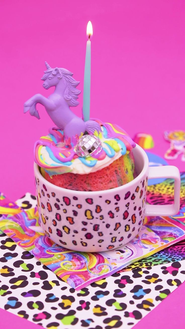 Watch this creative midnight munchies video recipe to learn how to make a Rainbow Mug Cake.