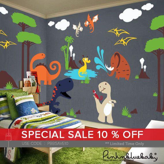 Dinosaur Wall Decals Playroom Wall Decals Kids U0026 Nursery Part 41