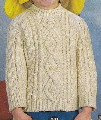 60 best childrens knitting patterns vintage images on pinterest vintage knitting pattern instructions for child s polo or round neck aran jumper dt1010fo