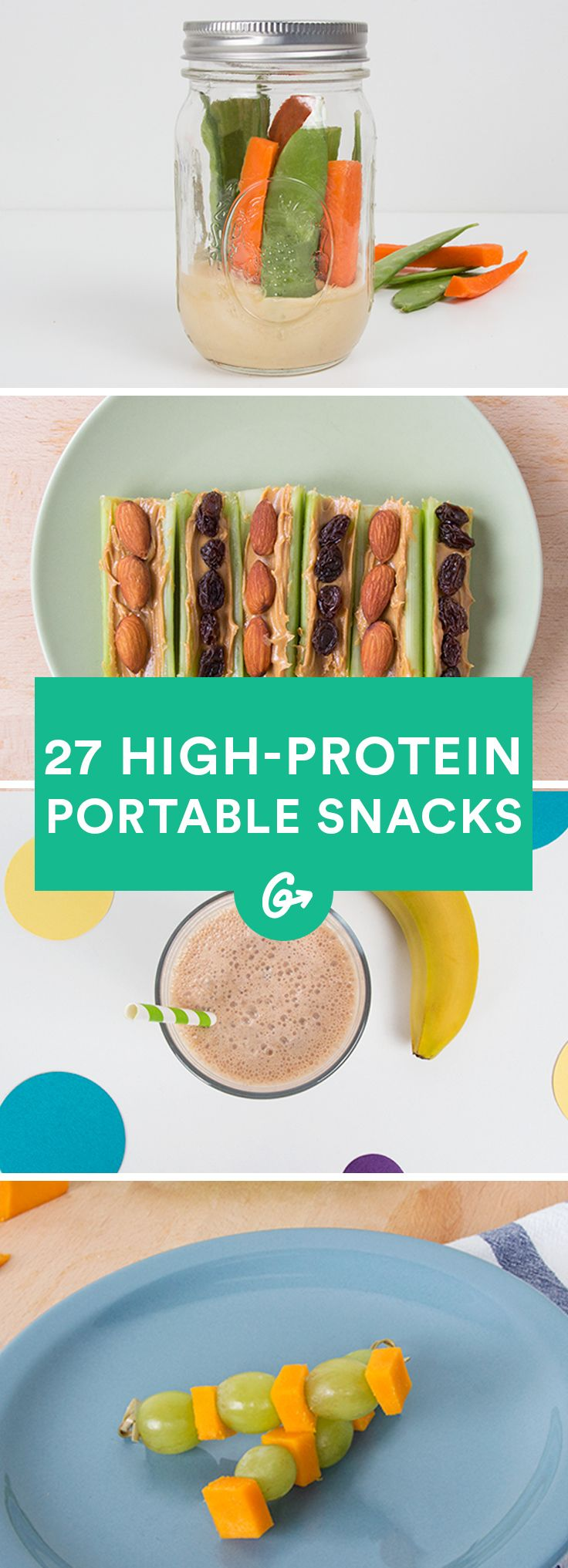 Whether you're fueling up before hitting the gym or taking a midday snack break to avoid the 3 p.m. lull, high-protein snacks are the tastiest way to keep on going. #highprotein #snacks http://greatist.com/health/high-protein-snacks-portable