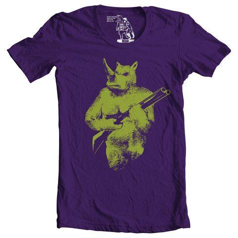 Rhino Hunter T-shirt - Man Cave Ideas  - 1