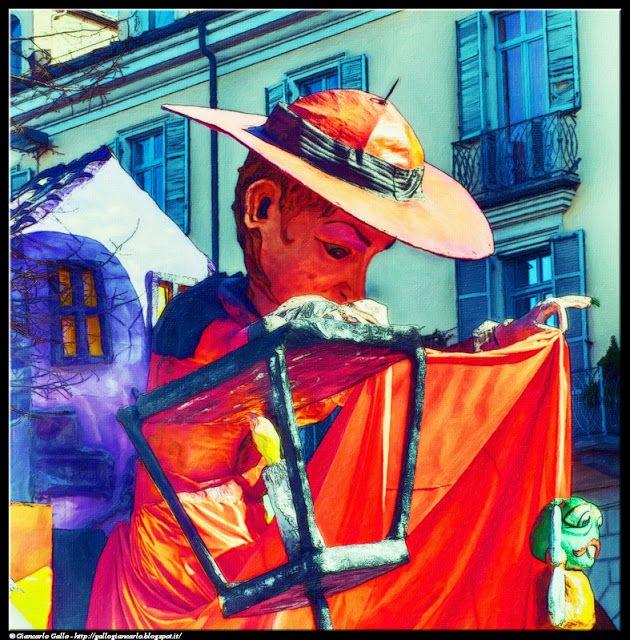 Carnevale Pinerolo 4 - photographic processing (278) - elaborazione fotografica di un personaggio carnevalesco relativo alla sfilata di carri allegorici