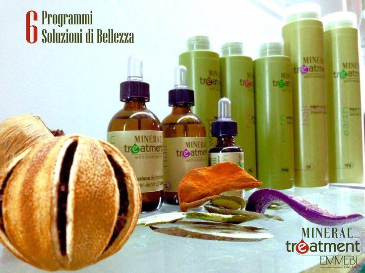 6 programmi per la bellezza dei capelli. Linea tricologica Mineral Treatment con acqua vitalizzata. #EmmebiItalia