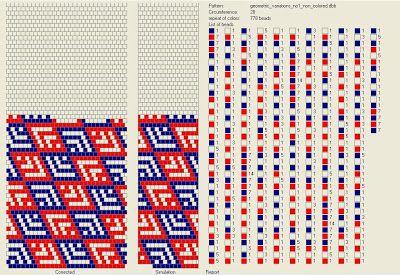 Geometric Variations no.1 - schemacik na sznur koralikowy na 28 koralików