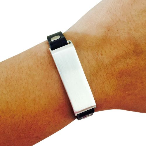 Shop the KATE Studded Black and Silver Vegan Leather Fitbit Bracelet to fashionably hide Fitbit Flex Fitness Activity Trackers. FREE SHIPPING.