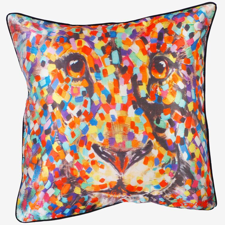 Lion cushion cover tracey keller