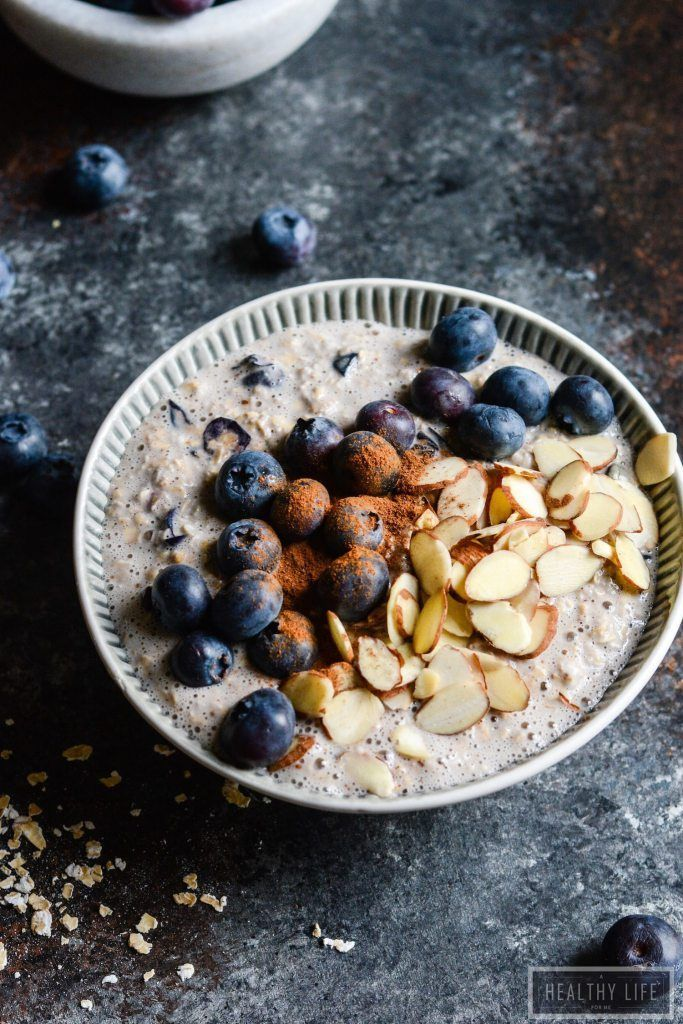 Blueberry Pie Overnight Oats Recipe  | Highly Nutritious | Gluten Free Recipe | Healthy Recipe | Easy Recipe | Breakfast Recipe | Superfood Recipe
