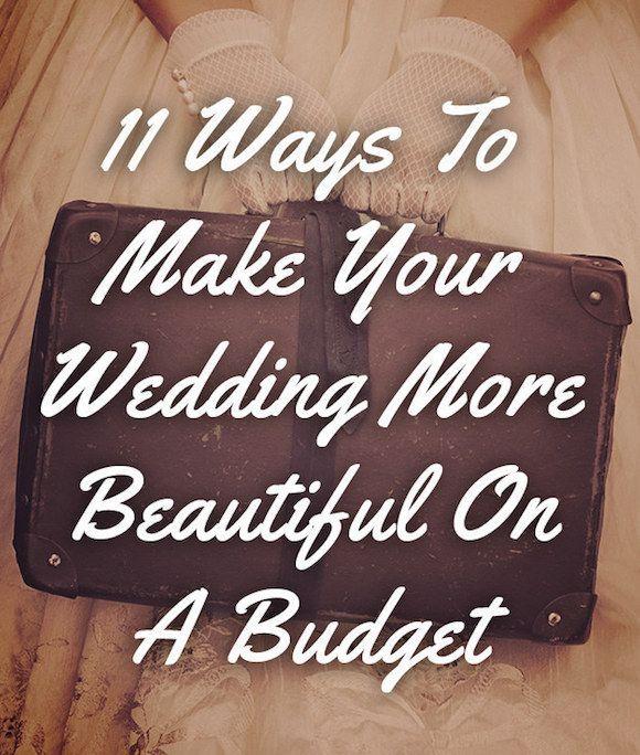 Beautiful wedding on a budget .Tips for cutting your wedding budget and a low-cost wedding .   http://makeuptutorials.com/makeup-tutorials-11-ways-to-make-your-wedding-more-beautiful-on-a-budget/