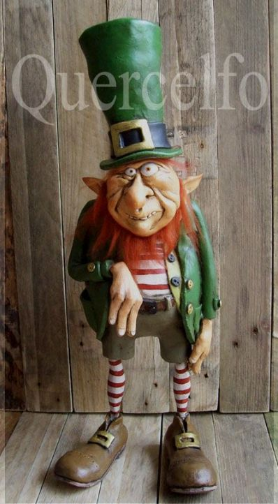 I like the style of this Leprechaun! It is from Hob Bonhubbold on the  Quercelfo site. Florence Italy There are great imaginative critters abs creatures there! .https://www.facebook.com/hob.bonhubbold