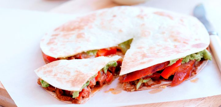This Chorizo Quesadilla is a tasty and versatile lunch alternative.