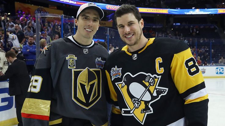 Fleury and Sid at the 2018 All Star Game in Tampa.