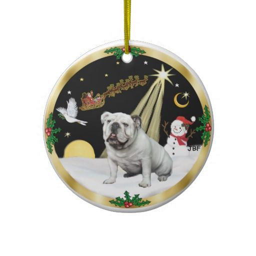 17 Best Images About English Bulldog Christmas Ornament On